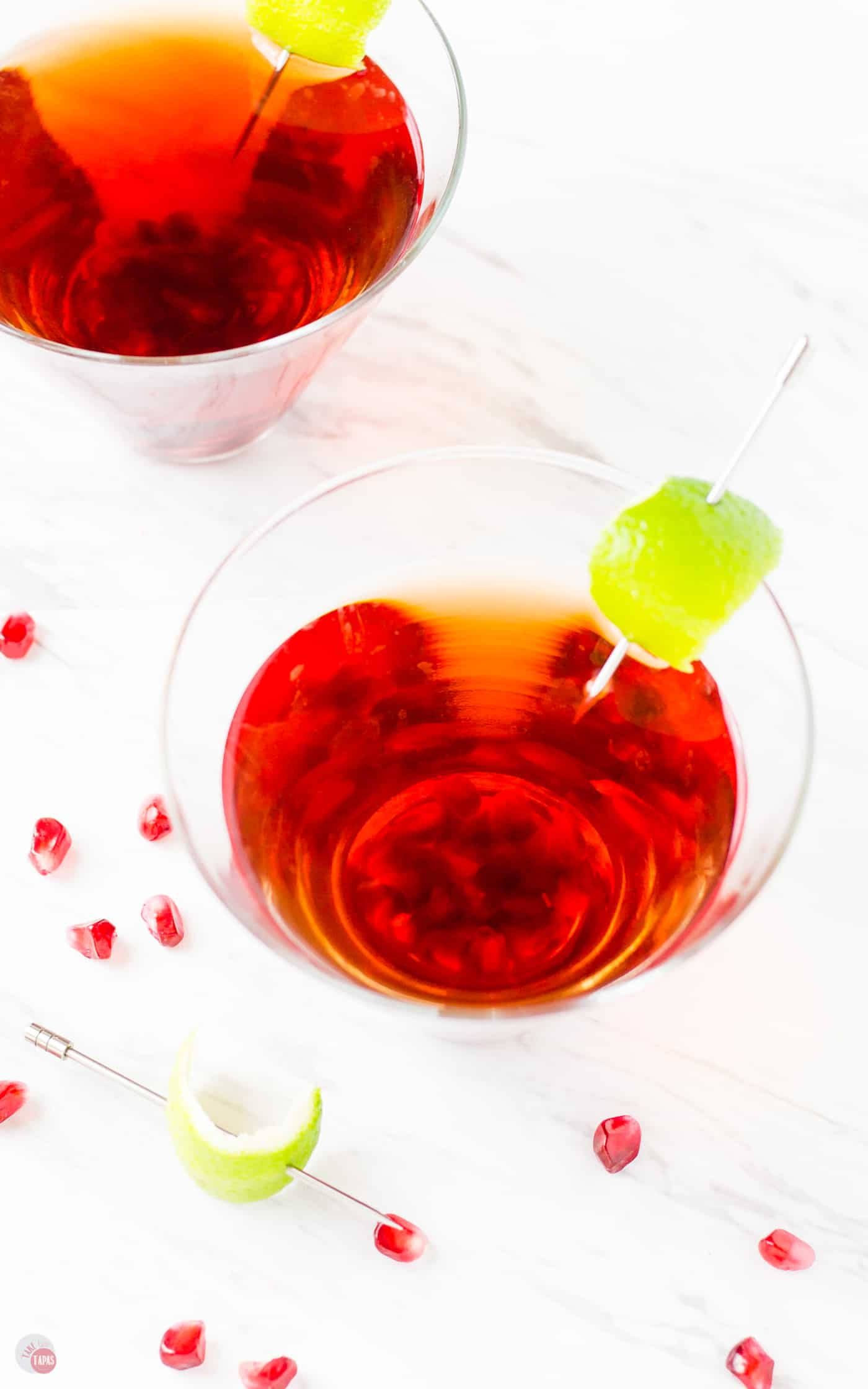 Doesn't this look amazing for all your holiday parties? | Take Two Tapas #Pomegranate #Gimlet #Cocktails