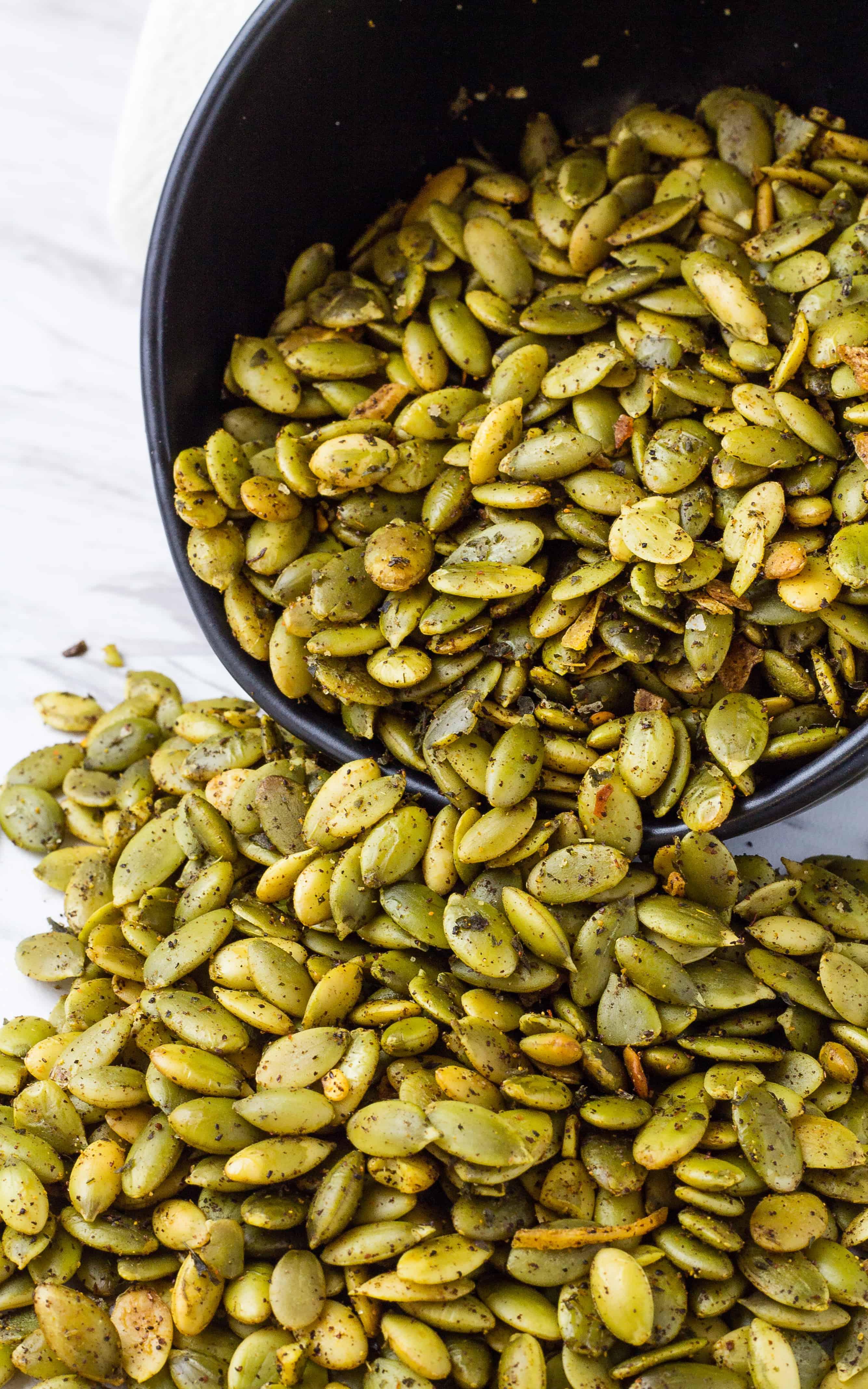 Spicy Seasoned Southwest Pepitas | Take Two Tapas | #Southwest #Pepitas #pumpkinseeds #spicy #Nuts #Snacks
