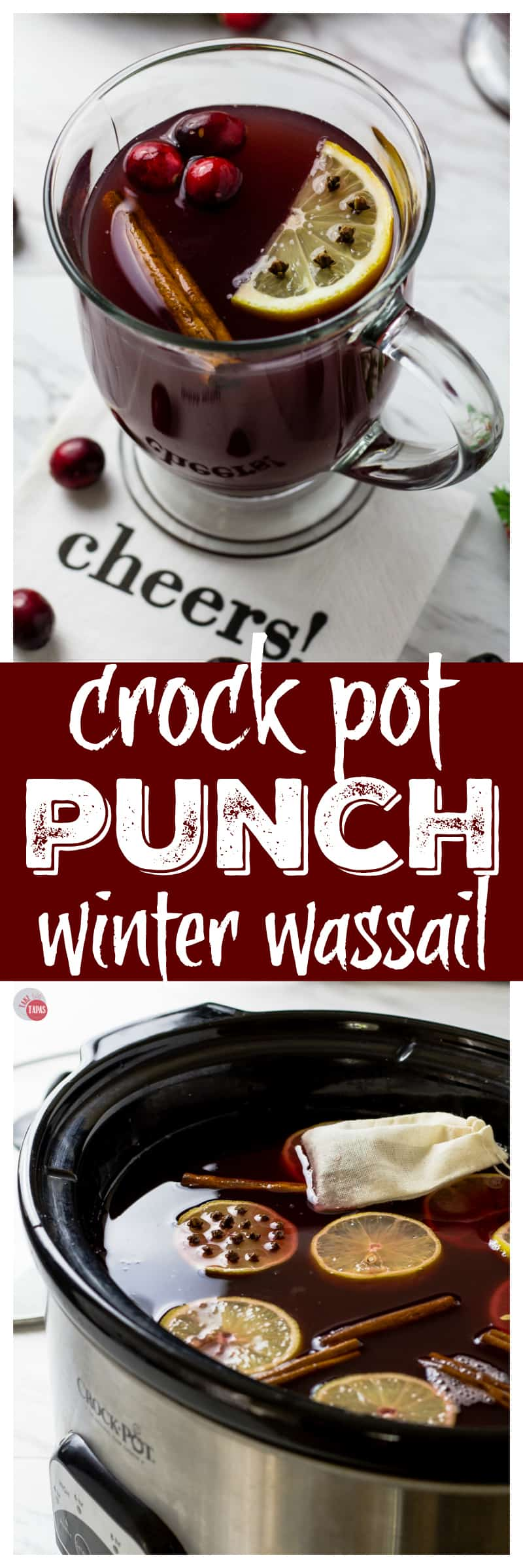 Slow Cooker Winter Punch | Wassail | #Slowcooker #Crockpot #Winter #Punch #Holidays #Wassail