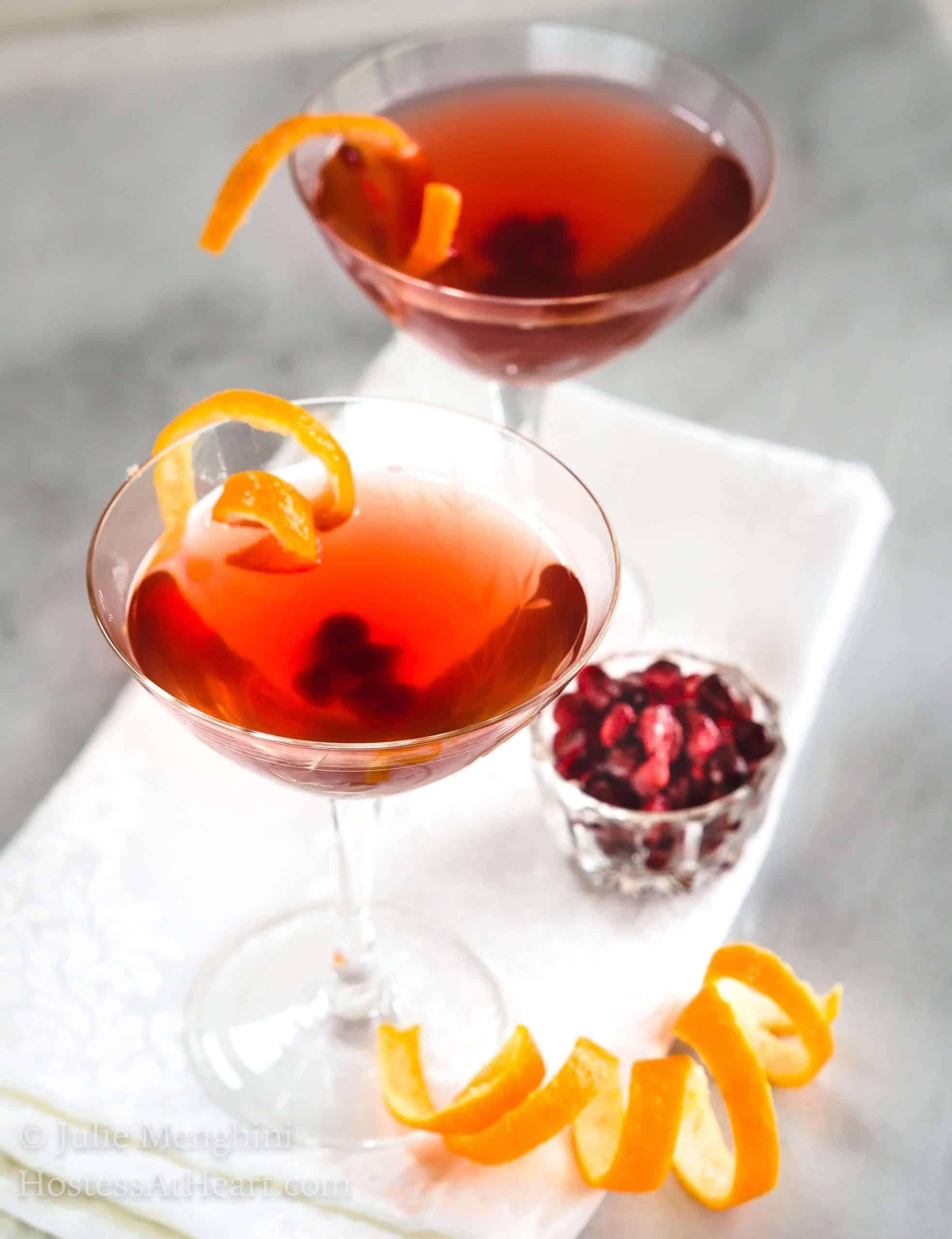 Easy Pomegranate Clementine Vodka Cocktail