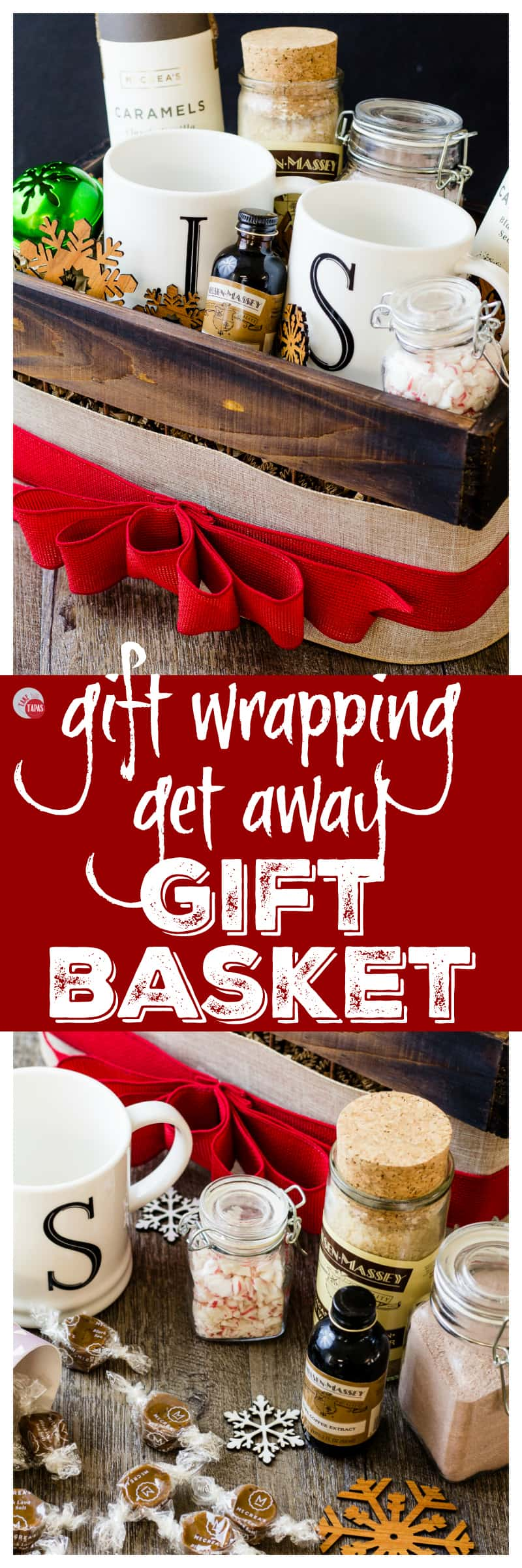 Gift Wrapping Get Away Gift Basket | Take Two Tapas | #GiftWrapping #Mocha #GetAway #GiftBasket #Holidays #AD