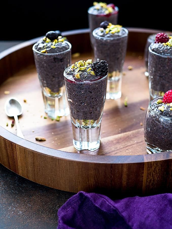 Berry Chia Pudding Dessert Shooters