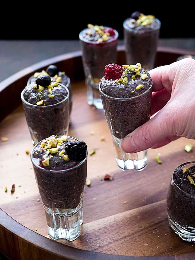 Berry Chia Pudding Dessert Shooters for Dessert or Breakfast