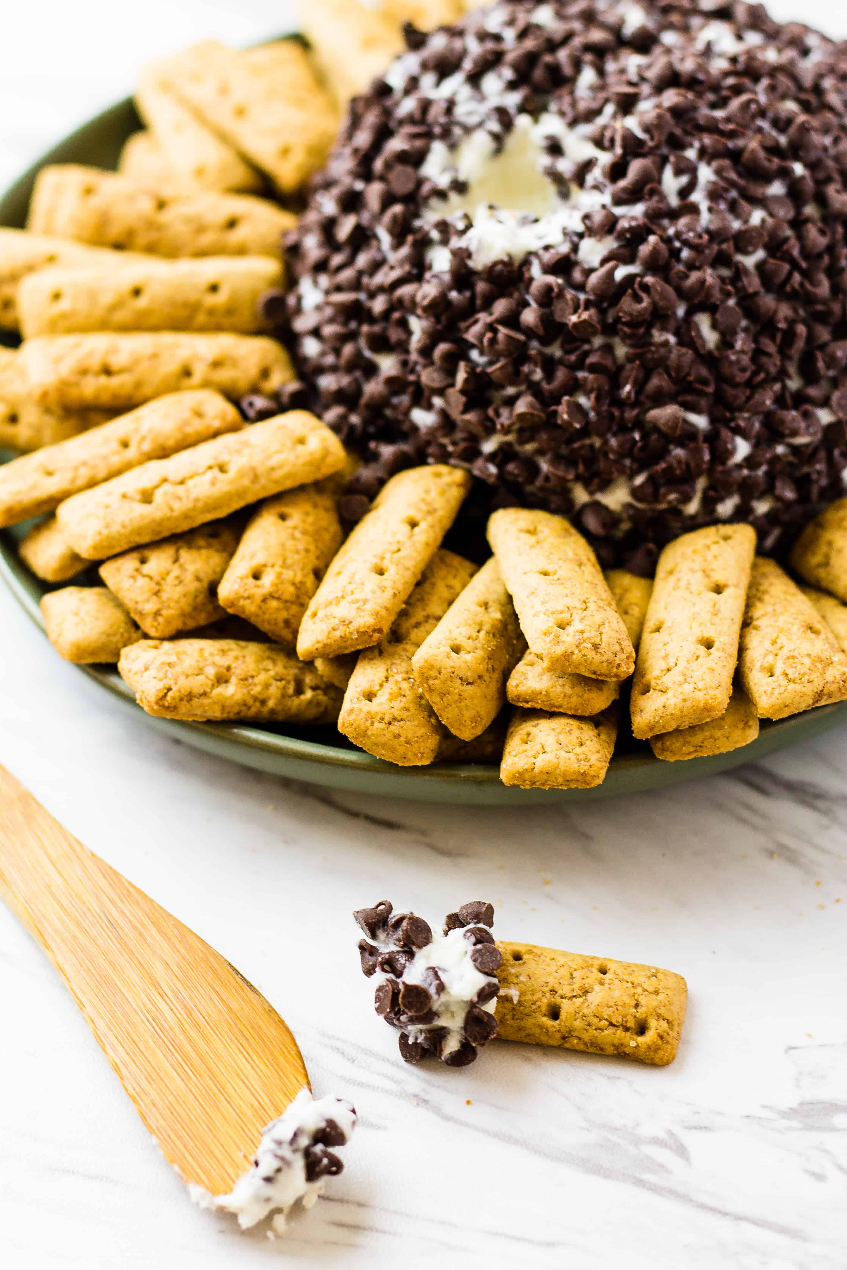 Cannoli Cheese Ball is the new black! | Take Two Tapas | #Cannoli #CheeseBall #Dessert #PartyFoods