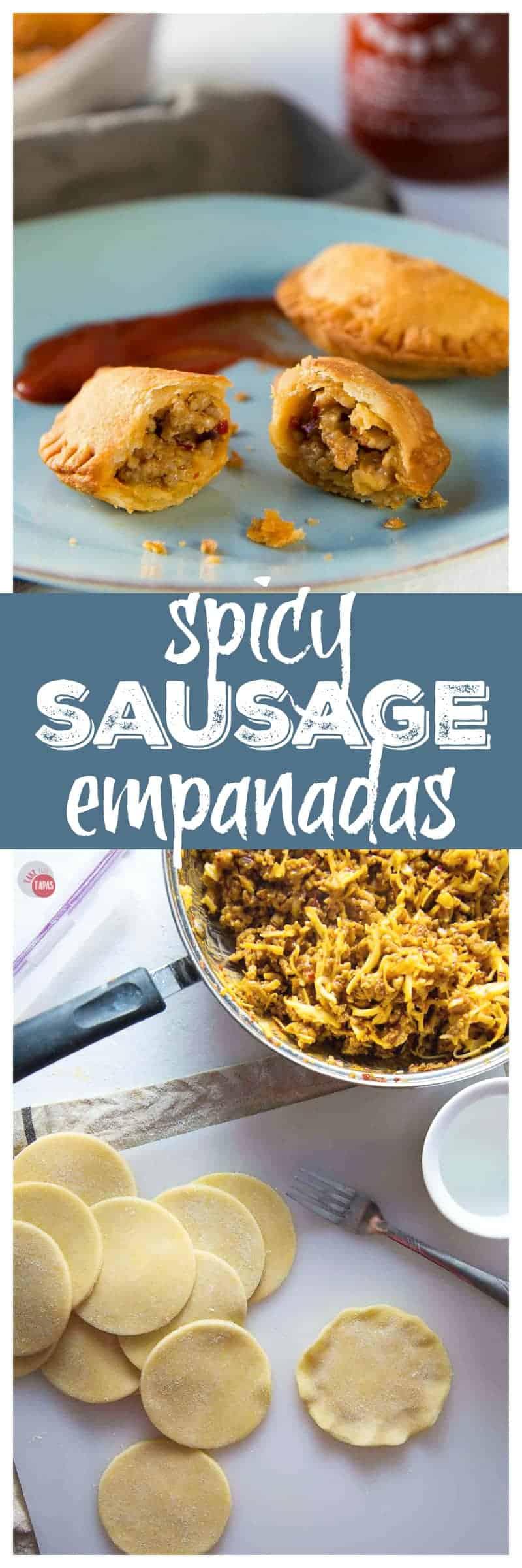 Addicting Spicy Sausage Empanadas | Take Two Tapas | #Spicy #Sausage #Empanadas #TheFlavorBender #Tapas