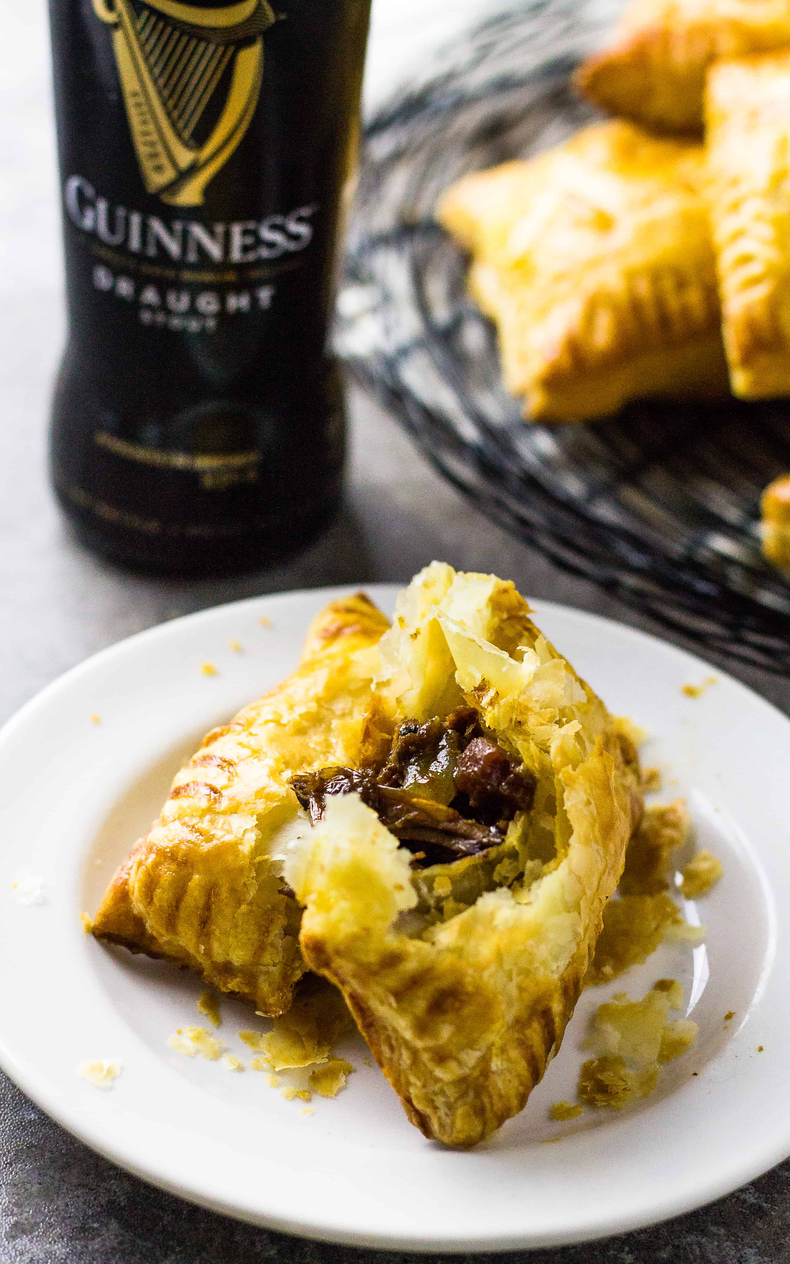 Beef Guinness Mini Pies for St. Patrick's Day | Take Two Tapas | #Guinness #Beef #Pies #Stout #Roast #HandPies #StPatricksDay