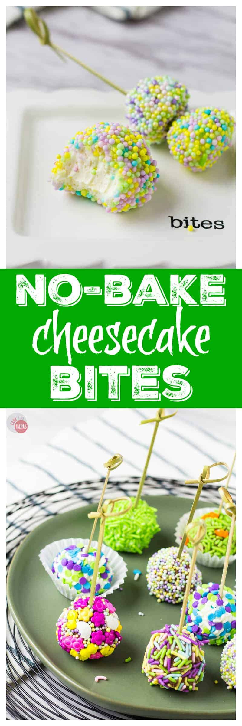 Simple Spring Dessert | Take Two Tapas | No-Bake Cheesecake Bites #AD #FlavorYourSpring #Dessert #Cheesecake #Bites #MothersDay #NoBake