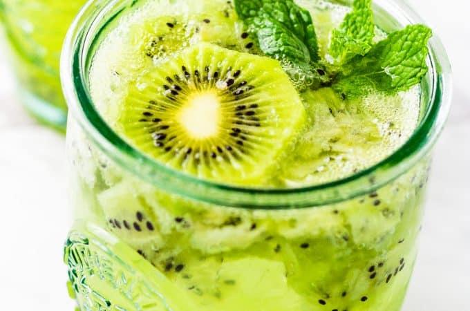 Kiwi Mint Mojito with rum | Take Two Tapas | #MojitoRecipe #Mojito #kiwi #rum #mint