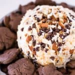 Eat Dessert First with this Almond Joy Cheese Ball | Take Two Tapas | #AlmondJoy #CheeseBall #SweetCheeseBall #CheeseBallRecipes #BestCheeseBalls #AlmondJoyRecipes