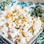 Buffalo Ranch Popcorn | Take Two Tapas | #BuffaloRanch #PopcornRecipes #HealthyPopcornRecipes #HotSauce #BuffaloRanchPopcorn