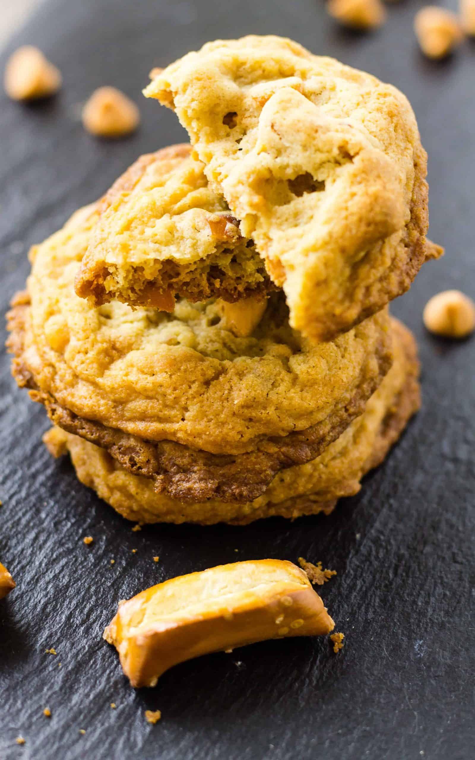 Butterscotch Pretzel Cookies – Crunchy, Sweet, and Salty