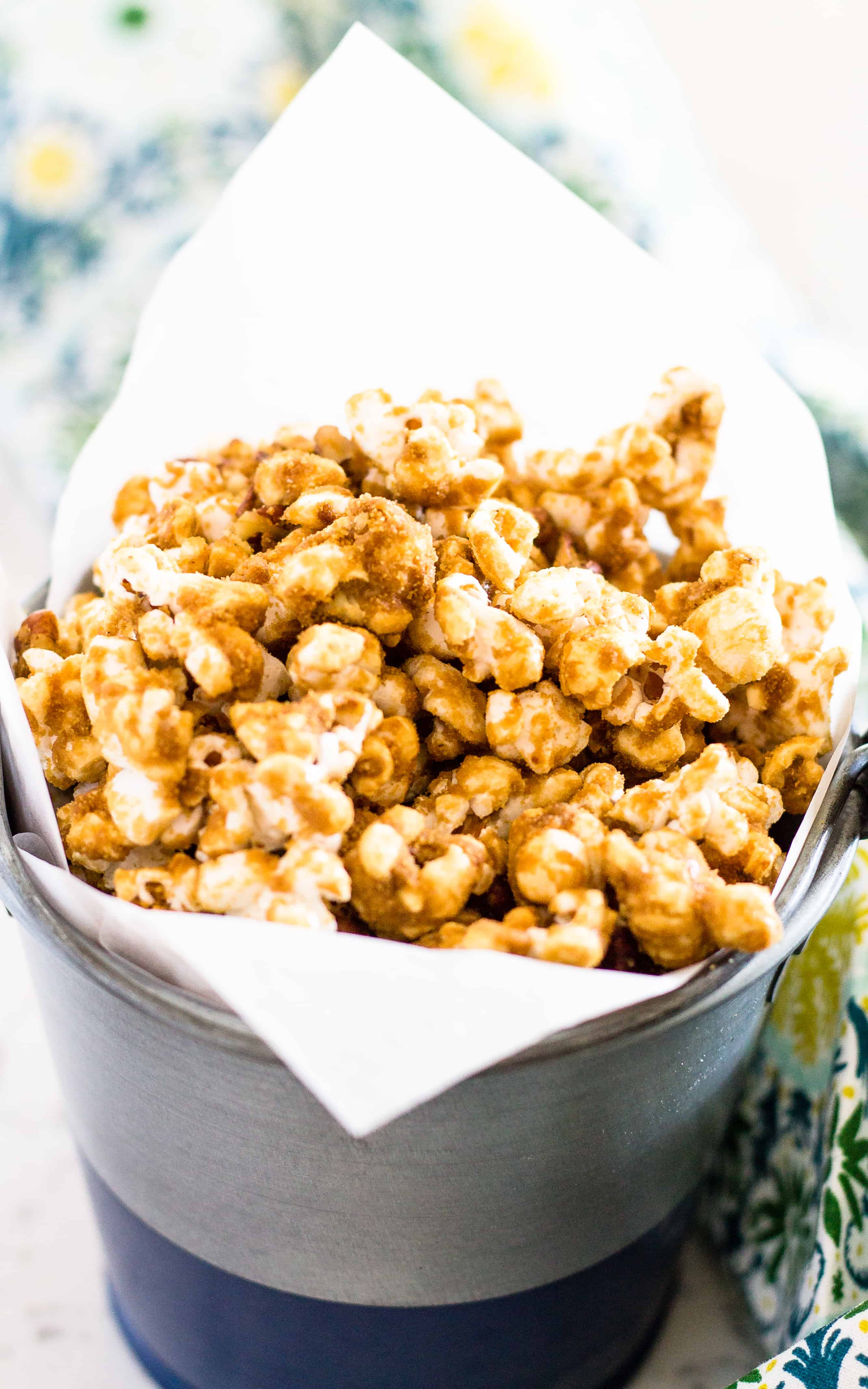Grandma's Salted Caramel Corn - A Fun Snack for Kids and Adults