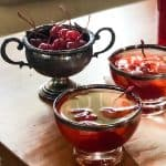 Have a Manhattan but try this one instead! Cherry Manhattan Punch!   Take Two Tapas   #Cherry #Bourbon #PartyPunchRecipe #SparklingWaterCocktails #LargeBatchPunchRecipe