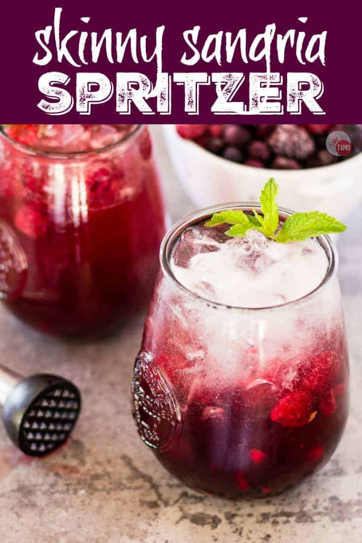 "Pinterest image with text ""Skinny Sangria Spritzer"""