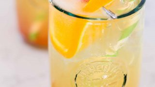 Amaretto Sour Sparkling Cocktail