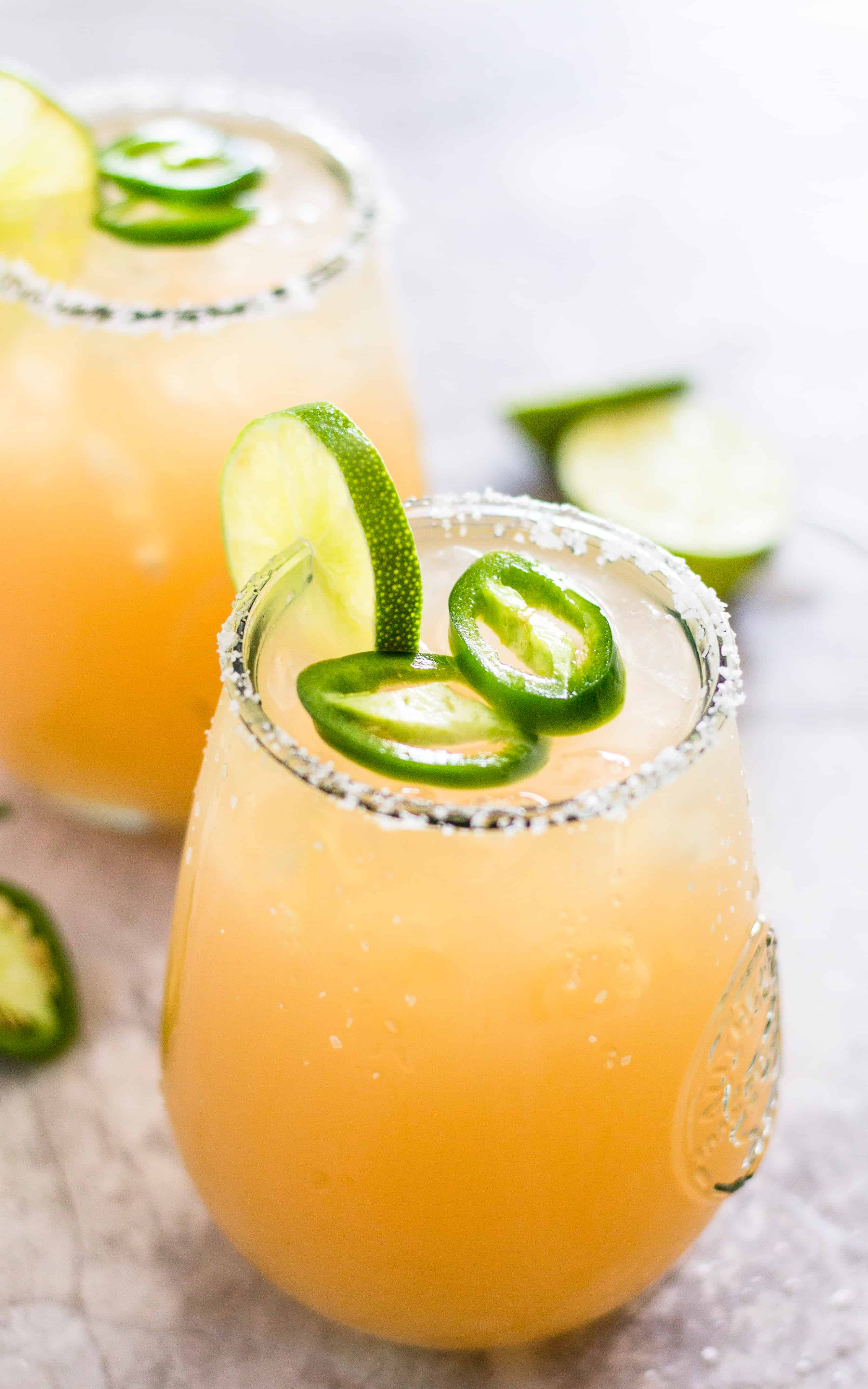 Sparkling Jalapeño Paloma Cocktail | Take Two Tapas | #Paloma #SparklingWaterCocktail #Jalapeño #PalomaRecipe #TequilaCocktail #GrapefruitRecipes