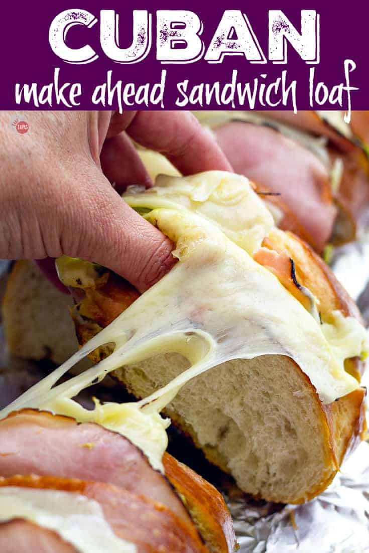 Large Batch Cuban Sandwich Loaf for a Crowd - Tailgating Sandwiches | Take Two Tapas | #TailgatingSandwiches #GrillRecipes #LargeSandwiches #CubanSandwich #CubanSandwichLoaf #GrillSandwiches #MakeAheadTailgateRecipes
