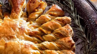 Pumpkin Pull Apart Puff Pastry - Pumpkin, Goat Cheese, and Roasted Garlic