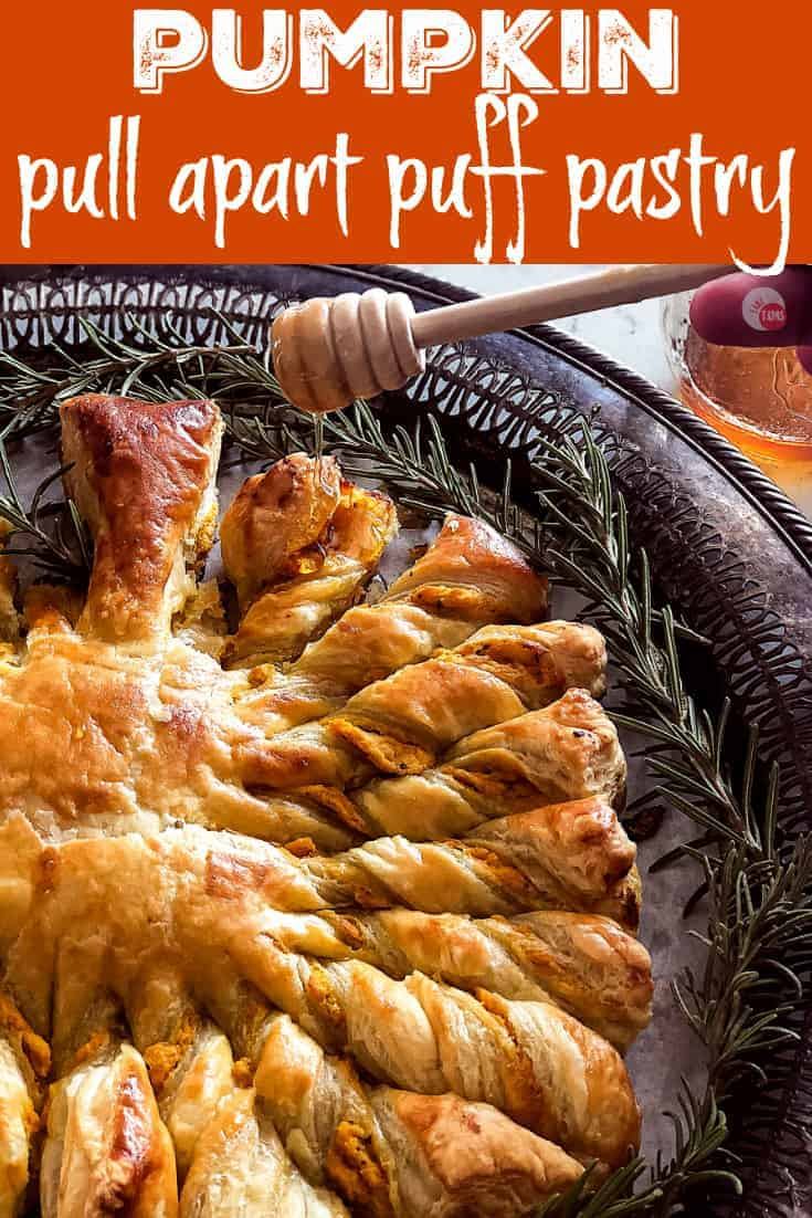 Easy Pumpkin Pull Apart Puff Pastry | Take Two Tapas | #PuffPastryRecipe #PumpkinRecipe #PullApartBread #FallRecipe #AppetizerRecipe #HolidayFoods #EasyHolidayRecipe