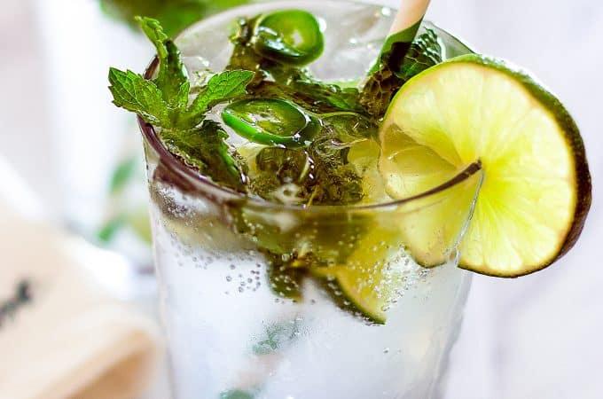 Bright and Refreshing Spicy Jalapeño Mojito Recipe | Take Two Tapas | #MojitoRecipe #RumCocktail #Mint #JalapeñoRecipe #CocktailRecipes