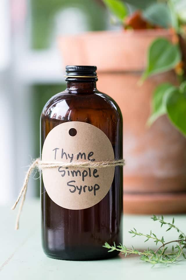 Thyme Simple Syrup | Fall Cocktails