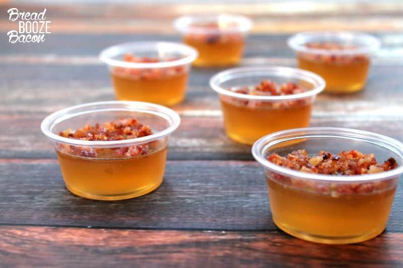 Bacon Bourbon Apple Jello Shots | Fall Cocktails