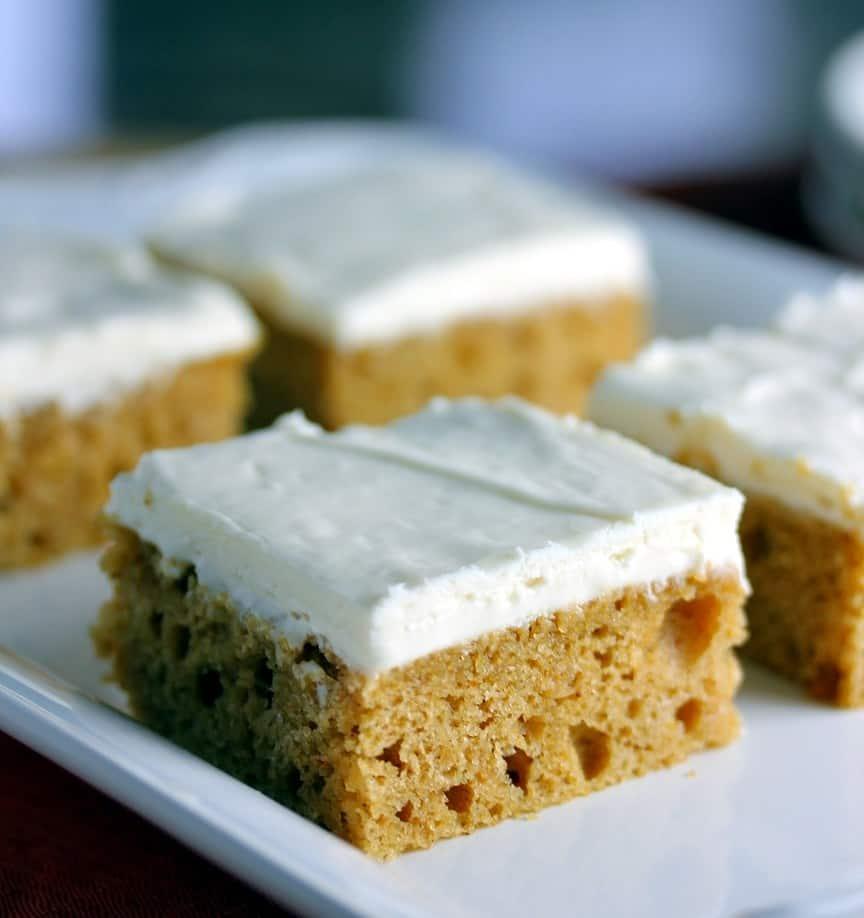 Brown Butter Pumpkin Bars | Fall Desserts