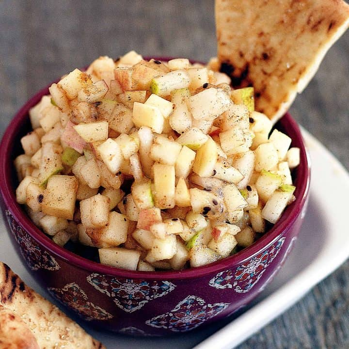 Apple Pie Salsa - Fresh Apple Pie Salsa with Spices