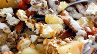 Sweet Potato Poutine - Sweet Potatoes with Marshmallow