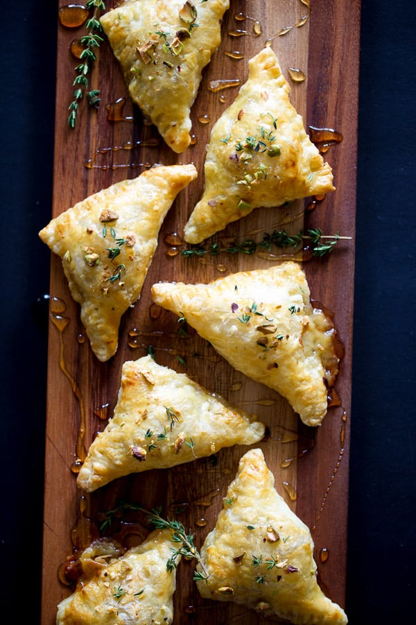 Pear and Brie Triangles   Fall Tarts