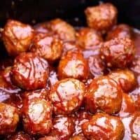 Steakhouse BBQ Meatballs - Crockpot Party Meatballs