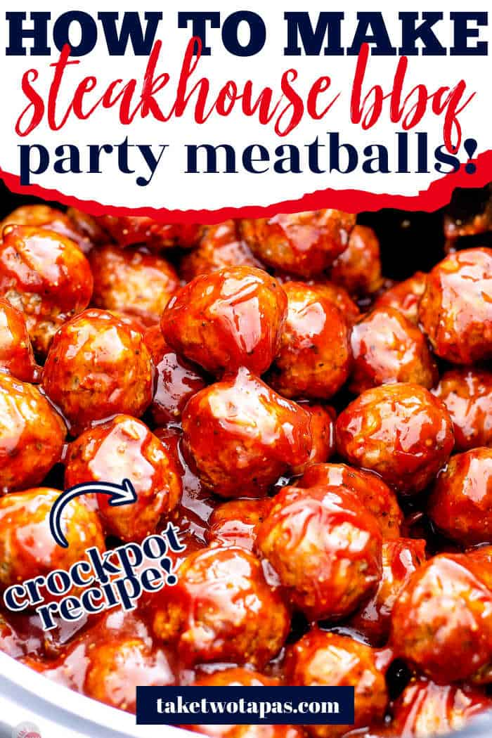 """meatballs with text """"how to make steakhouse bbq party meatballs"""""""