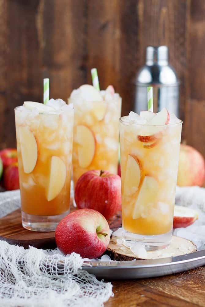 Fall Apple Long Island Tea | Fall Cocktails