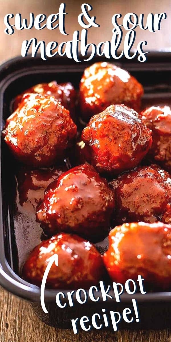 sweet and sour meatballs pin