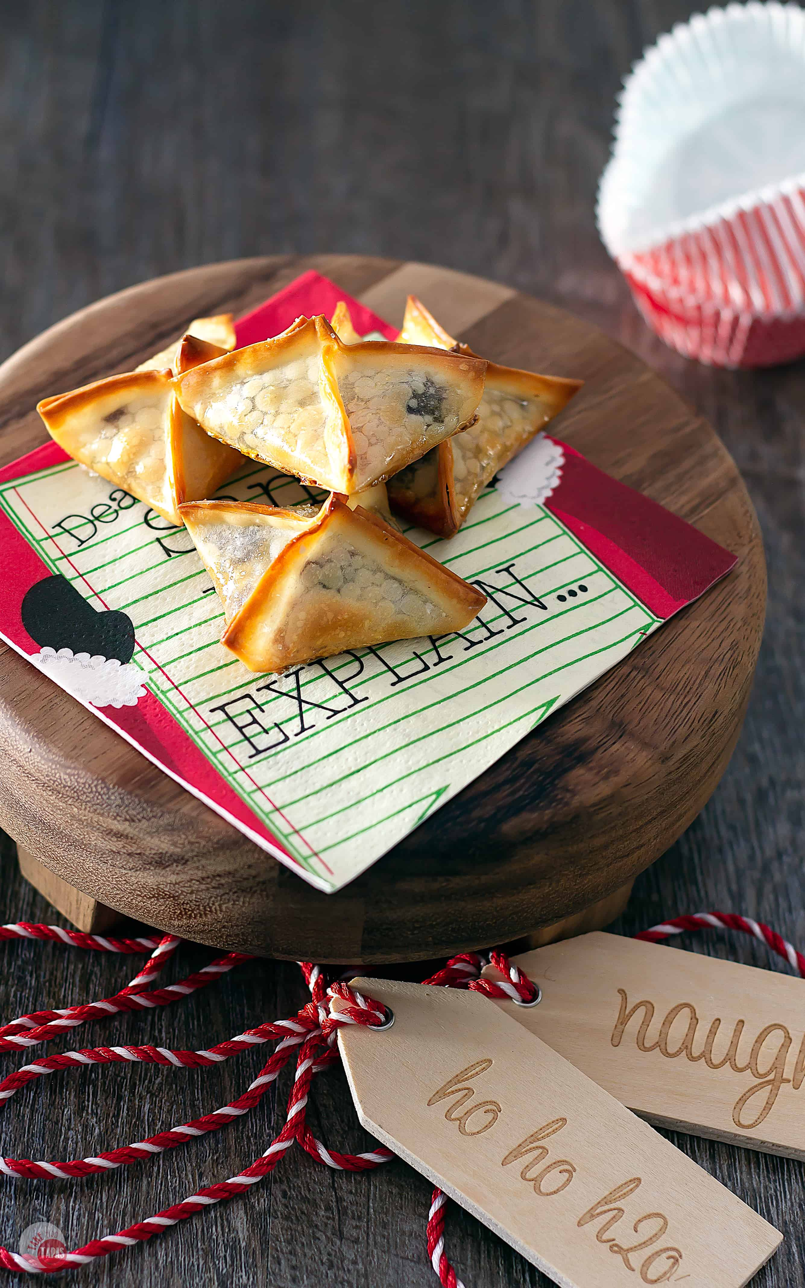 These Turtle Wonton Kisses make great edible gifts for the holidays | Take Two Tapas | #Turtles #WontonCookies