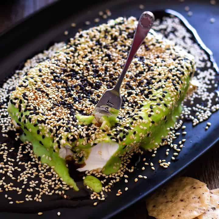 Easy Asian Cream Cheese Appetizer - Ponzu Wasabi Spread