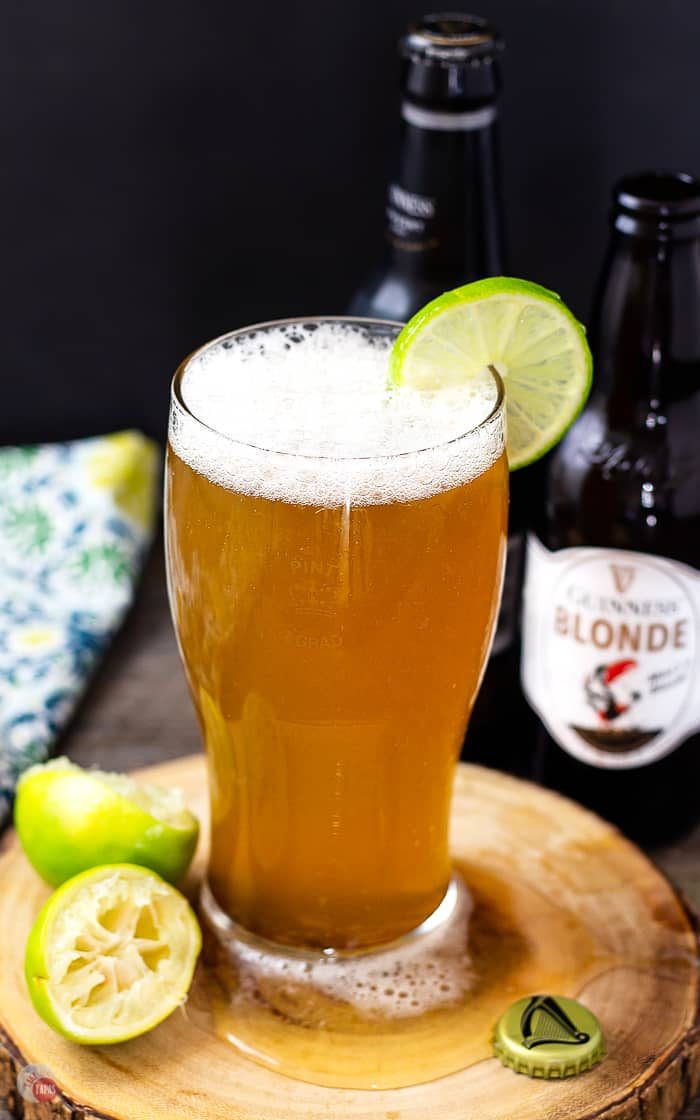 This Blonde Bombshell is a Beer Margarita made with Guinness Blonde! | Take Two Tapas | #BeerCocktail #BeerMargarita #GuinnessBeer