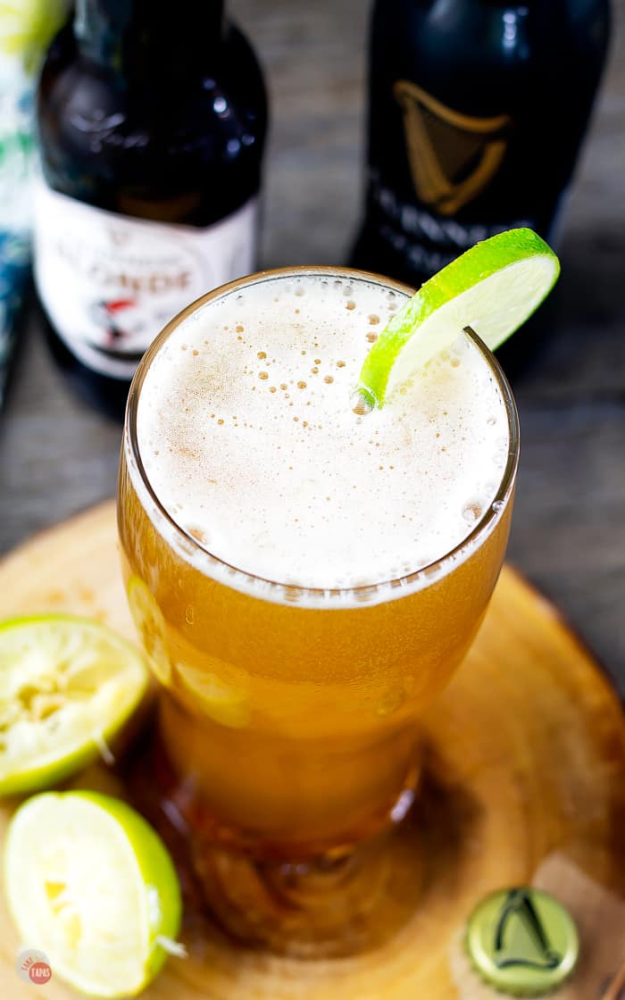 Beergaritas are super easy beer margarita cocktails and with Guinness Blonde they are perfect for St. Patrick's Day! | Take Two Tapas | #BeerCocktail #BeerMargarita #GuinnessBeer