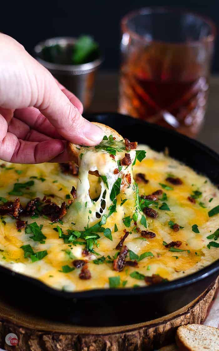 Hot Brown Skillet Dip | Take Two Tapas | #HotBrown #DerbyFood #KentuckyRecipes