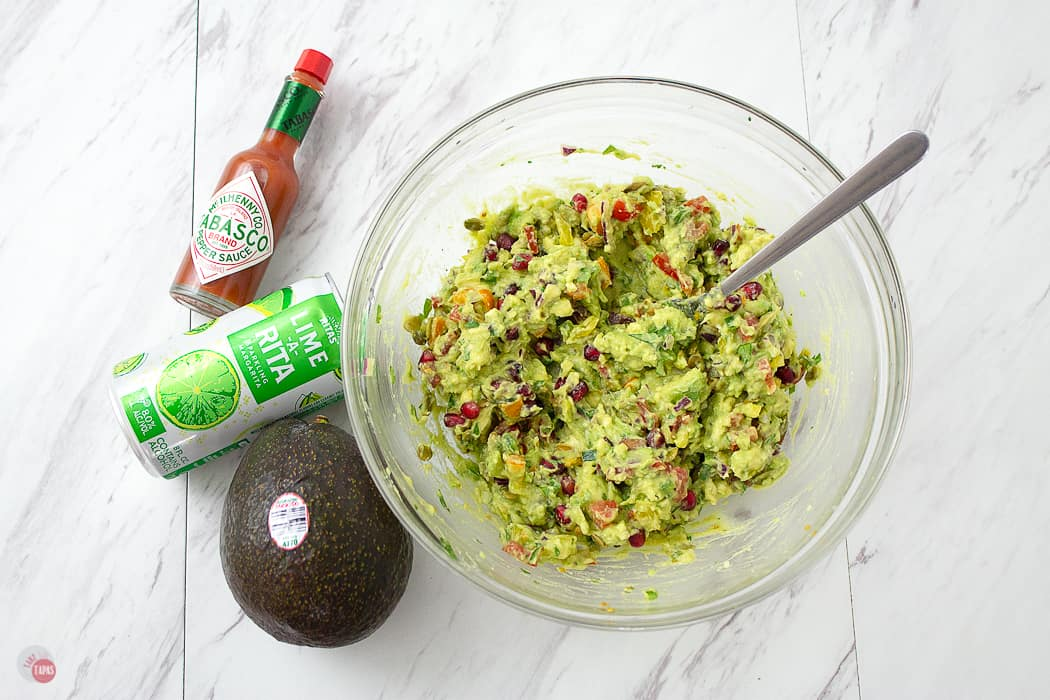Great guacamole starts with great avocados! Sweet and Spicy Pomegranate Guacamole | Take Two Tapas | #Guacamole #Pomegranate #SavorWinningFlavors #AvocadosFromMexico #HAVEARITA #FlavorYourWorld