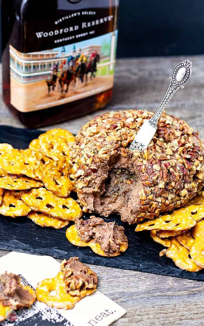 Picture of inside of Derby Pie Cheese Ball