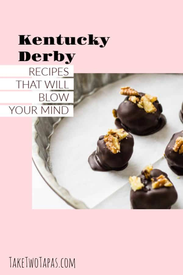 pinterest image of derby party menu