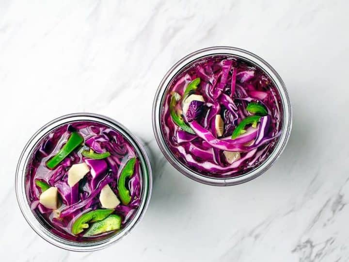Pickled Red Cabbage Easy Pickled Cabbage Condiment