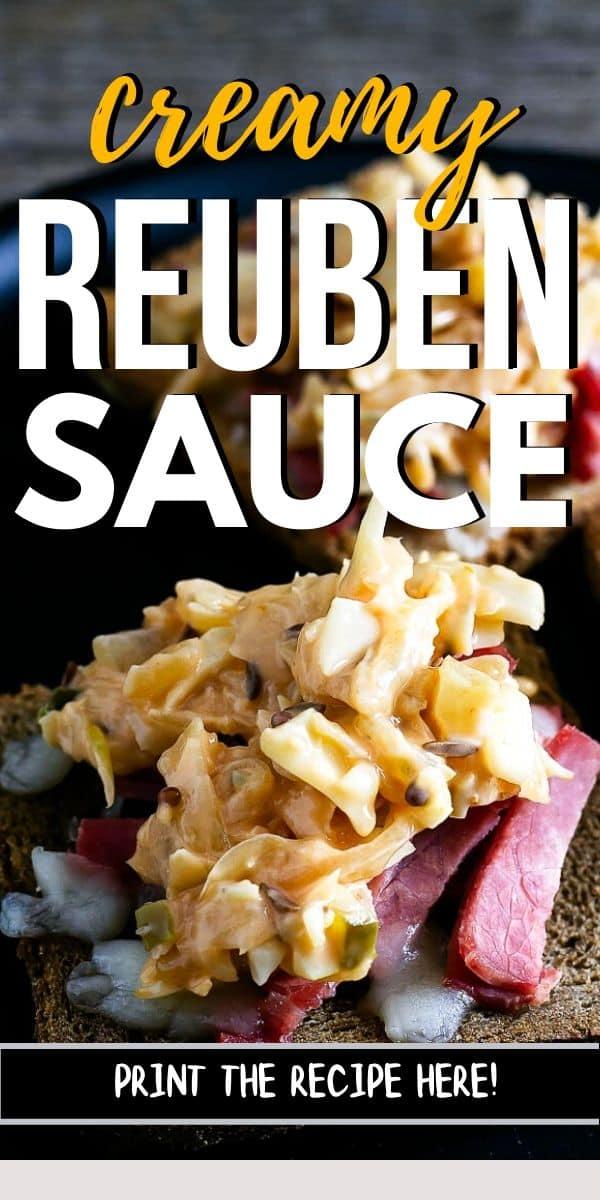 """reuben sauce closeup with text """"reuben sauce"""""""