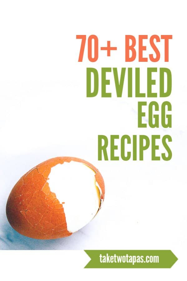 cover photo for 70+ deviled egg recipes list