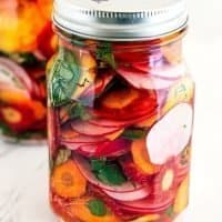Quick Taco Pickles - Taqueria-Style Pickled Carrots, Radishes & Jalapeños