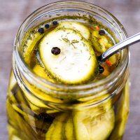 Refrigerator Spicy Beer Pickles