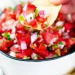 This classic and authentic Pico de Gallo is the best fresh tomato salsa that you can make. 5 ingredients is all you need and it's not just salsa either!
