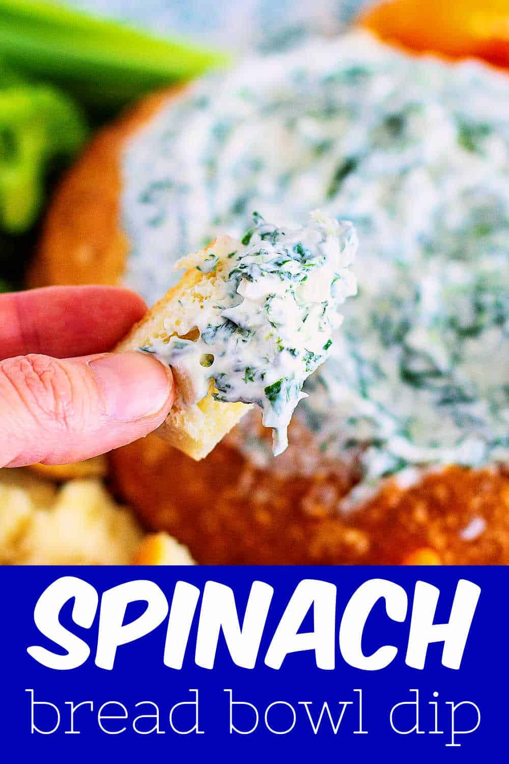 bowl of spinach dip
