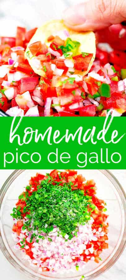 pinterest pin image for pico de gallo